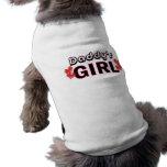 Chemise de chien de la fille du papa t-shirts pour animaux domestiques
