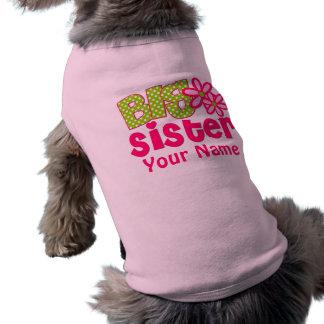Chemise de chien personnalisée par vert de rose de t-shirt pour chien