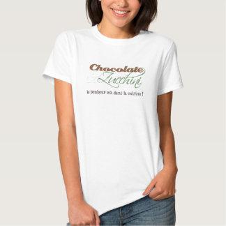 Chemise de chocolat et de courgette pour elle t-shirts