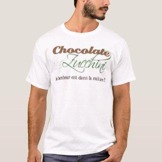 Chemise de chocolat et de courgette pour lui t-shirt