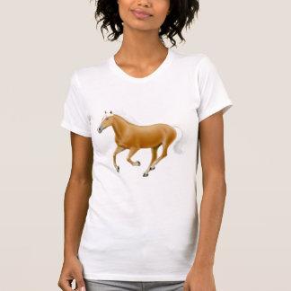 Chemise de cou de scoop de dames de cheval de t-shirts
