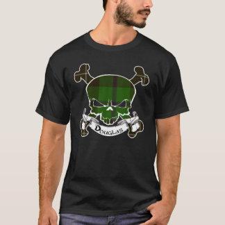 Chemise de crâne de tartan de Douglas T-shirt