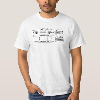 chemise de croquis de mise au point du mustang e t-shirt