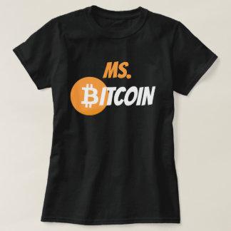 Chemise de Cyrptocurrency de chaîne de bloc de Mme T-shirt