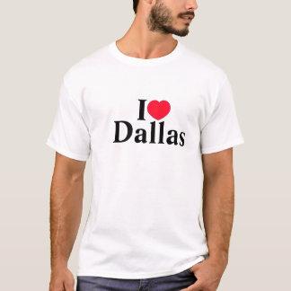 Chemise de Dallas de l'amour des hommes T-shirt