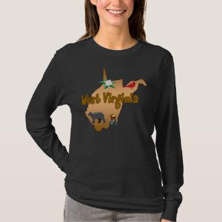 Chemise de douille de dames de la Virginie T-shirt