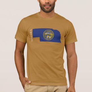 Chemise de Drapeau-Carte du Nébraska T-shirt