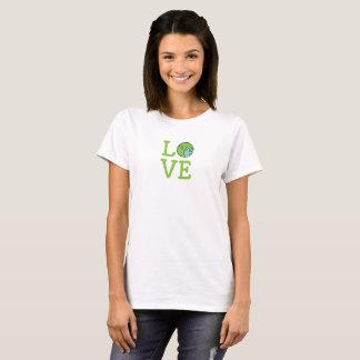 Chemise de femmes de la terre d'amour t-shirt