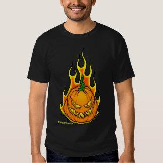 Chemise de flamme de citrouille t-shirts