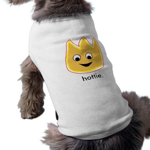 Chemise de flamme de Hottie du chien T-shirts Pour Animaux Domestiques