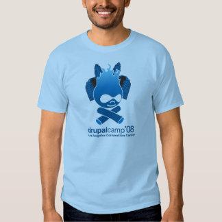 Chemise de flamme de la LA 2008 de camp de Drupal T-shirts