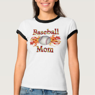 Chemise de flamme de maman de base-ball t-shirt