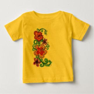 Chemise de fleur de bébé t-shirts