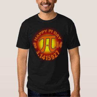 Chemise de geek de jour de pi des hommes t-shirt