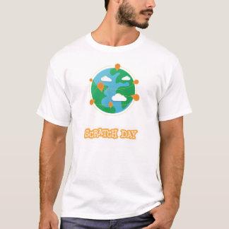 Chemise de globe de jour d'éraflure (hommes) t-shirt