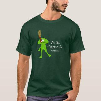 Chemise de grenouille et d'attrape-mouches t-shirt