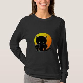 Chemise de Halloween, lune de récolte de chats T-shirt