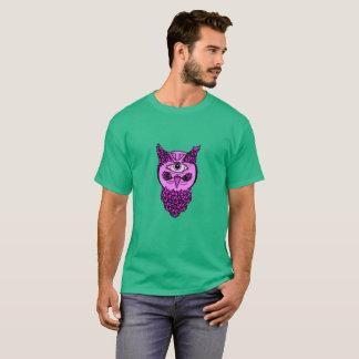 Chemise de hibou d'art de bruit des hommes t-shirt