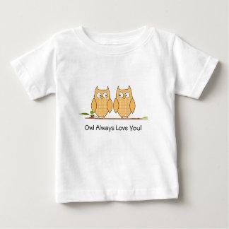 Chemise de hiboux t-shirt pour bébé