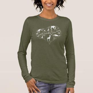 Chemise de jour de girafe du monde t-shirt à manches longues