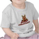 Chemise de Joyeux Noël du renne de l'enfant de KRW T-shirts