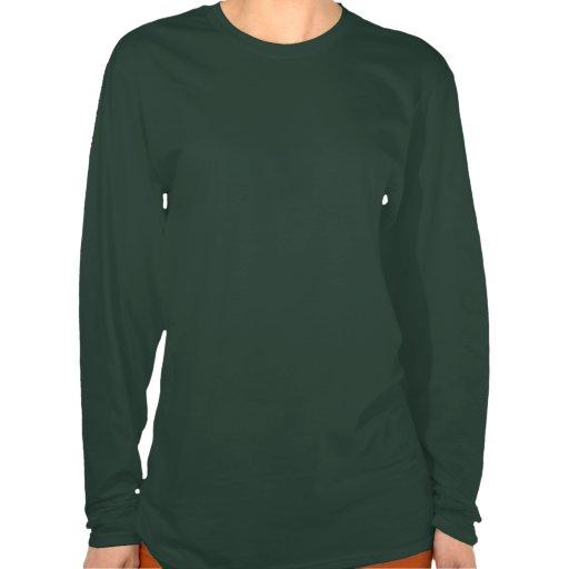Chemise de la douille de Ladie de kanji du feu lon T-shirts