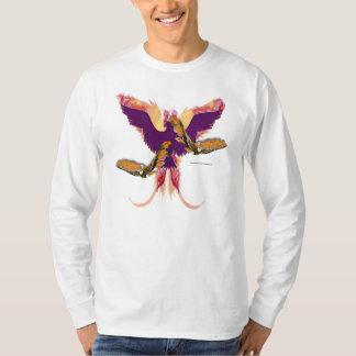 Chemise de la douille des hommes en flammes de t-shirt
