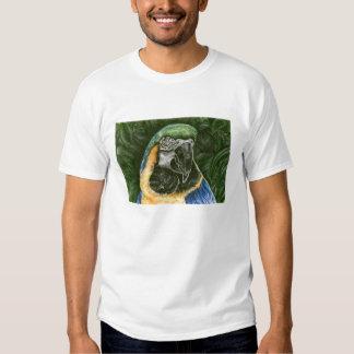 Chemise de la sonnerie de l'enfant d'ara de bleu t-shirt