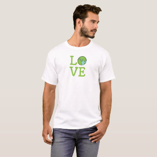 Chemise de la terre d'amour t-shirt