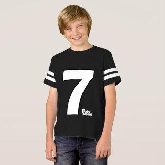 Chemise de la voie sept du football d'enfants t-shirt