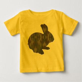 Chemise de lapin de Pâques de silhouette de T-shirt Pour Bébé