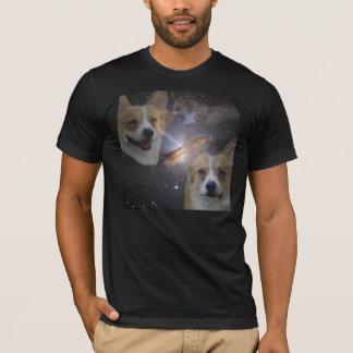 Chemise de l'espace de corgi t-shirt