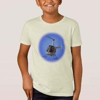 Chemise de l'hélicoptère de l'enfant du T-shirt de
