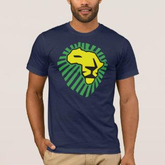 Chemise de lion de jaune de crinière de vert de t-shirt