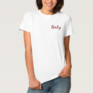 Chemise de l'Italie T-shirt Brodé