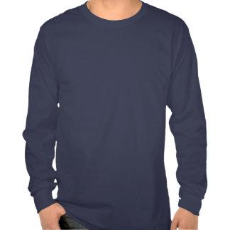 Chemise de Long-Douille de bouclier de drapeau T-shirts