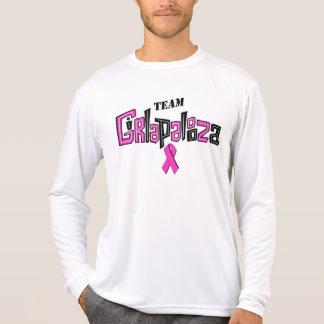 Chemise de longslv-Équipe du microfiber des hommes T-shirt