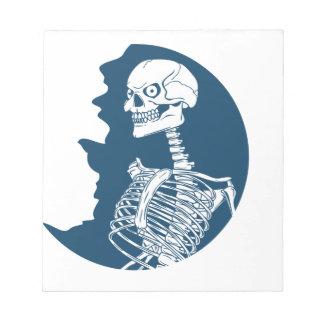 chemise de lune bleue bloc-note
