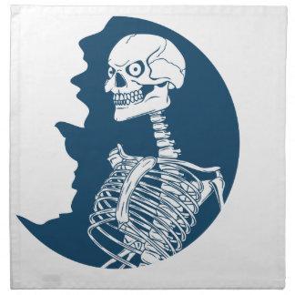 chemise de lune bleue serviettes imprimées