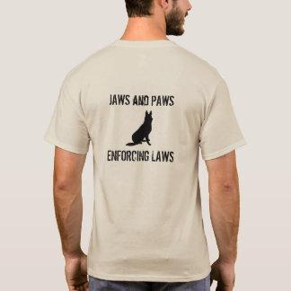 Chemise de mâchoires et de pattes t-shirt