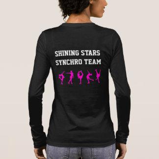 Chemise de maman de patinage artistique avec le t-shirt à manches longues