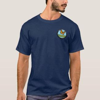 Chemise de marine avec le logo et le texte subtils t-shirt