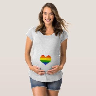 Chemise de maternité de coeur de bébé T-Shirt de maternité