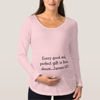 Chemise de maternité d'écriture sainte T-Shirt de maternité