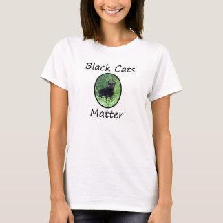 Chemise de matière de chats noirs t-shirt