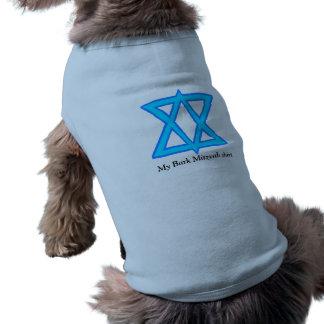 """Chemise de """"Mitzvah d'écorce"""" d'étoile de David T-shirt Pour Chien"""