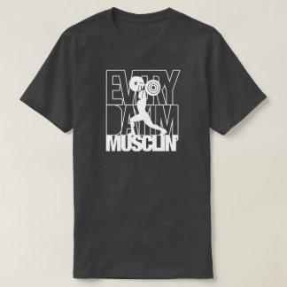 Chemise de muscle de sport de séance t-shirt