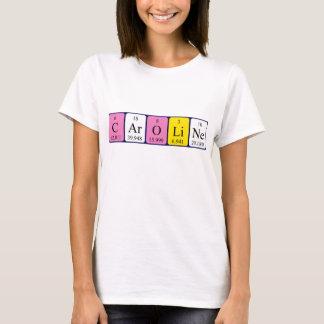 Chemise de nom de table périodique de Caroline T-shirt