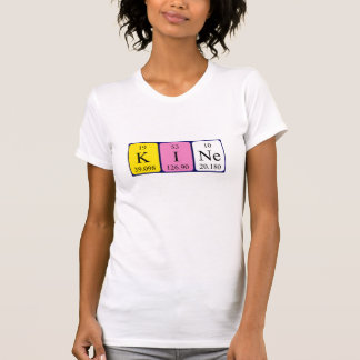 Chemise de nom de table périodique de Kine T-shirt