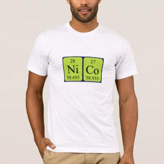 Chemise de nom de table périodique de Nico T-shirt